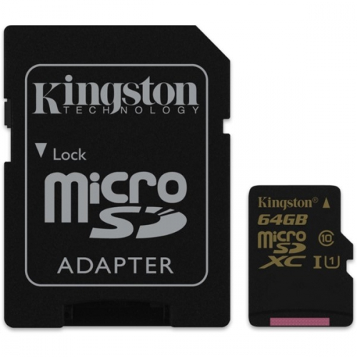 Kingston 64GB UHS-I U1 (90R/45W) + adapter