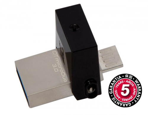 Kingston DataTraveler Micro Duo 3.0 32GB OTG MicroUSB/USB 3.0 černý (DTDUO3/32GB)