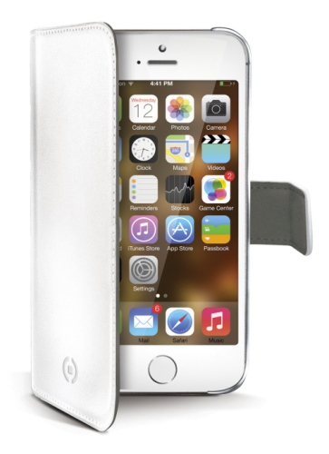 Celly Wally pro iPhone 5/5s/SE bílé (WALLY185WH)
