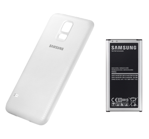 Samsung pro Galaxy S5 s krytem 3500mAh NFC (EB-EG900BW) bílý