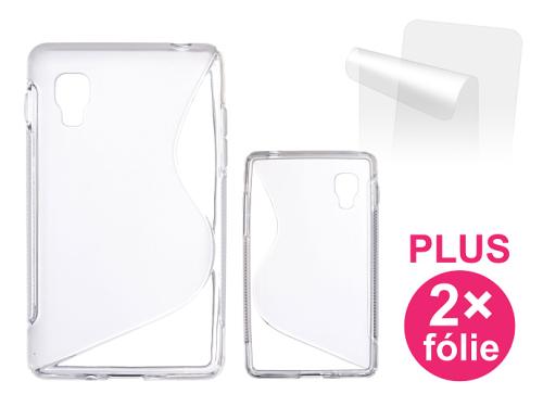 Connect IT pro LG Optimus L4 II (E440) + 2ks ochranná fólie průhledný