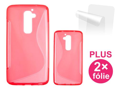 Connect IT pro LG G2 16GB (D802) + 2ks ochranná fólie červený