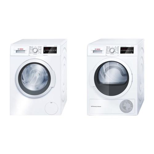 Set (Sušička prádla Bosch WTW85460BY) + (Automatická pračka Bosch WAT24460BY)