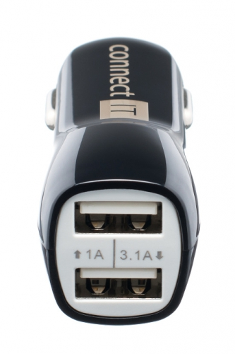 Connect IT PREMIUM, 2x USB, 3.1A/1A + micro USB kabel 0,25m