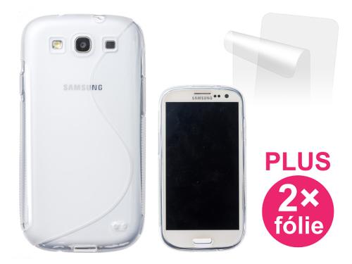 Connect IT pro Samsung Galaxy S3 (i9300) + 2ks ochranná fólie průhledný