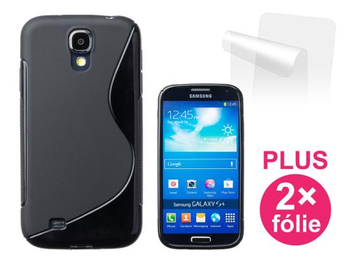Connect IT pro Samsung Galaxy S4 (i9505) + 2ks ochranná fólie černý