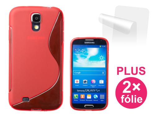 Connect IT pro Samsung Galaxy S4 (i9505) + 2ks ochranná fólie červený