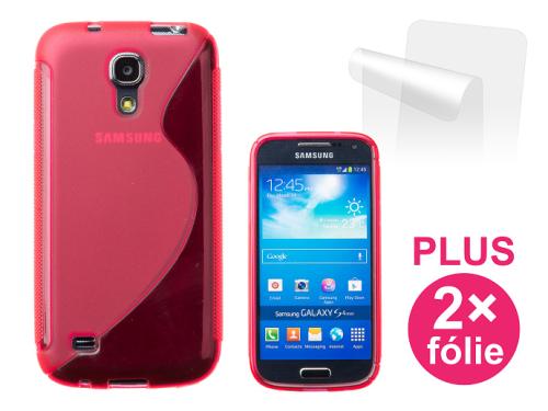 Connect IT pro Samsung Galaxy S4 Mini (i9195) + 2ks ochranná fólie červený