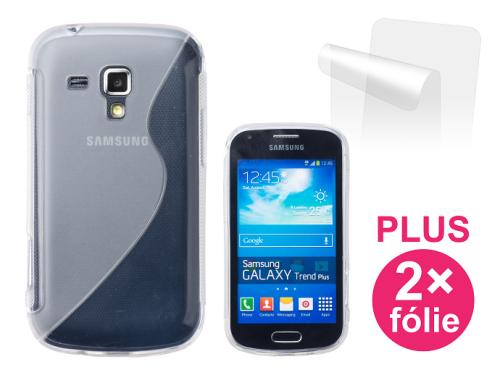 Connect IT pro Samsung Galaxy Trend (S7560) + 2ks ochranná fólie průhledný