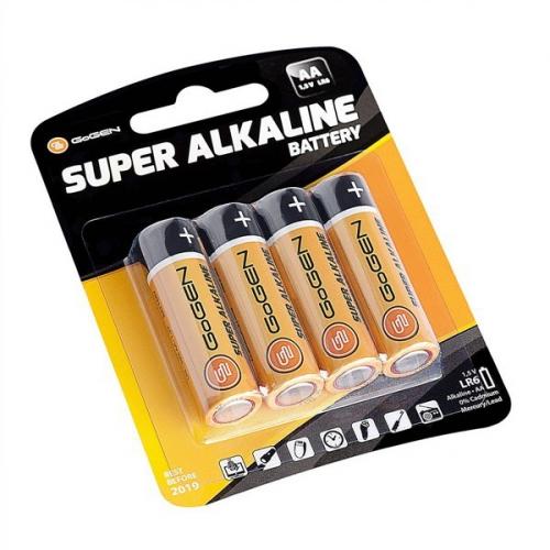 GoGEN SUPER ALKALINE AA, LR06, blistr 4ks černá/oranžová (GOGR06ALKALINE4)