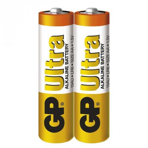 Baterie alkalická GP Ultra AA, LR06, fólie 2ks