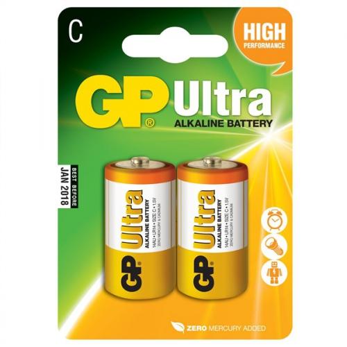 Baterie alkalická GP Ultra C, LR14, blistr 2ks