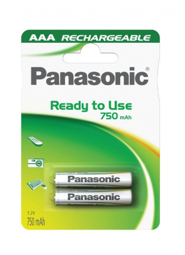 Panasonic Evolta AAA, HR03, 750mAh, blistr 2ks