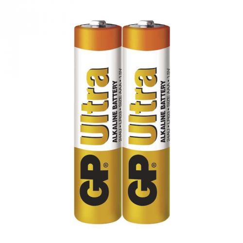 Baterie alkalická GP Ultra AAA, LR03, fólie 2ks