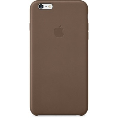 Apple Leather Case pro iPhone 6 Plus - Olive Brown