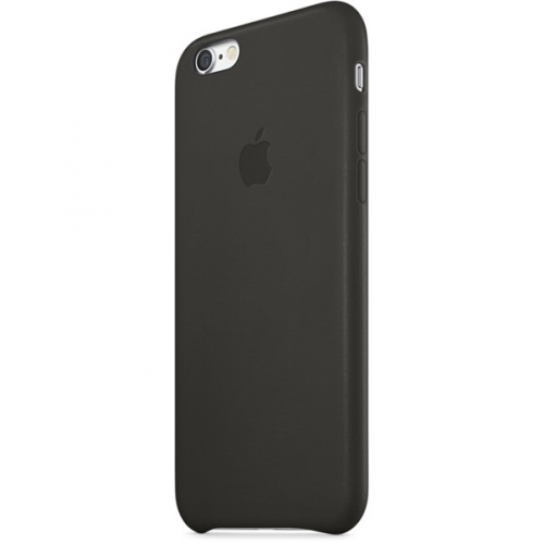 Apple Leather Case pro iPhone 6 Plus - Black