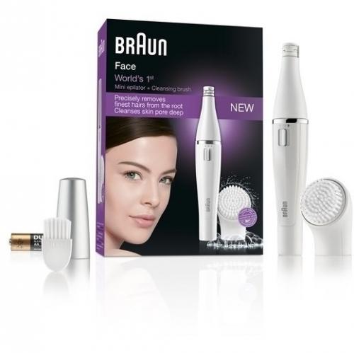 Braun Face 810 bílý + dárek