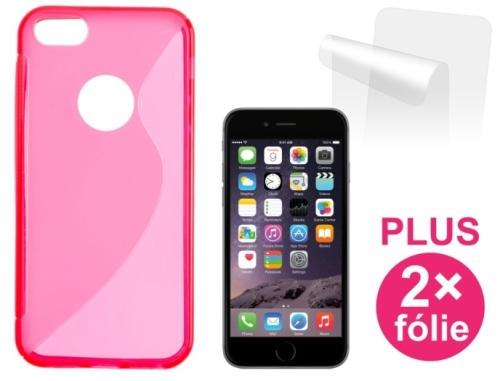 Connect IT pro iPhone 6 PLUS + 2ks ochranná fólie červený