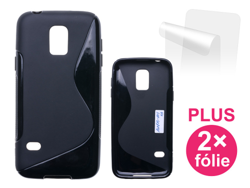 Connect IT pro Samsung Galaxy S5 mini + 2ks ochranná fólie černý