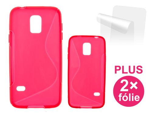 Connect IT pro Samsung Galaxy S5 mini + 2ks ochranná fólie červený