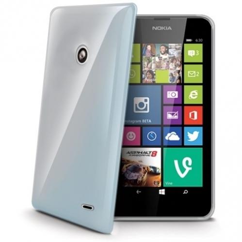Celly Gelskin pro Nokia Lumia 630 průhledný