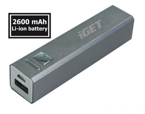 iGET POWER B 2600 mAh stříbrná