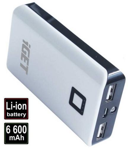 iGET POWER B 6600 mAh bílá