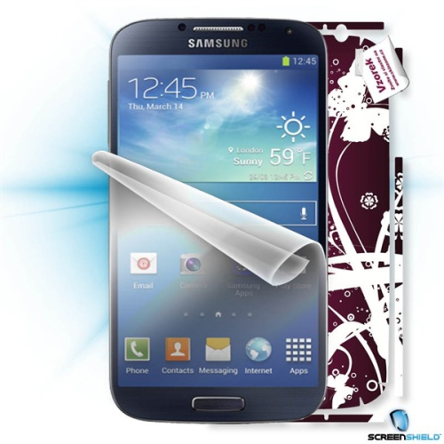 Samsung ScreenShield fólie na displej + skin voucher (včetně poplatku za dopravu k zákazníkovi) pro Samsung Galaxy S4 (i9505)