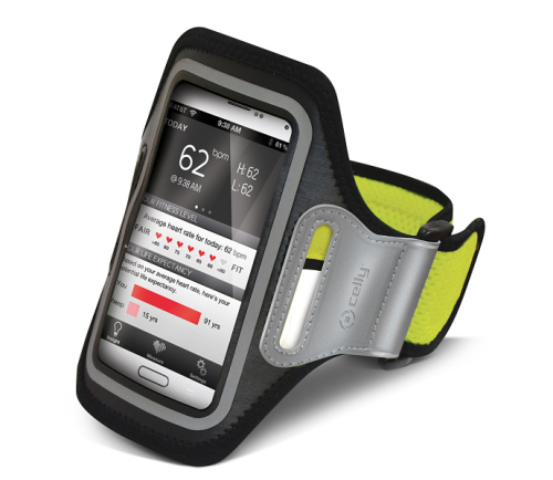 Celly Armband XXL žluté