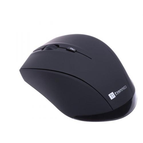 Myš Connect IT Travel s pouzdrem černá (/ laserová / 5 tlačítek / 1600dpi)