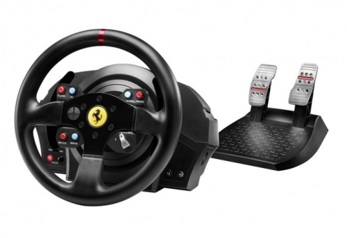 Thrustmaster T300 Ferrari GTE pro PS3, PS4, PC + pedály