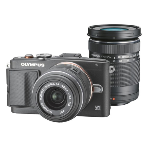 Olympus E-PL6 + objektivy 14-42mm II R + 40-150mm R černý