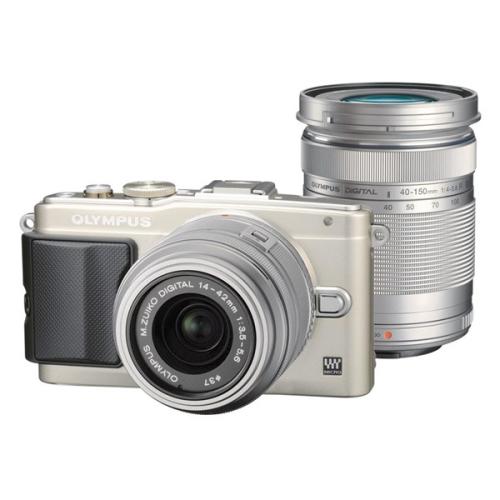 Olympus E-PL6 + objektivy 14-42mm II R + 40-150mm R stříbrný ()