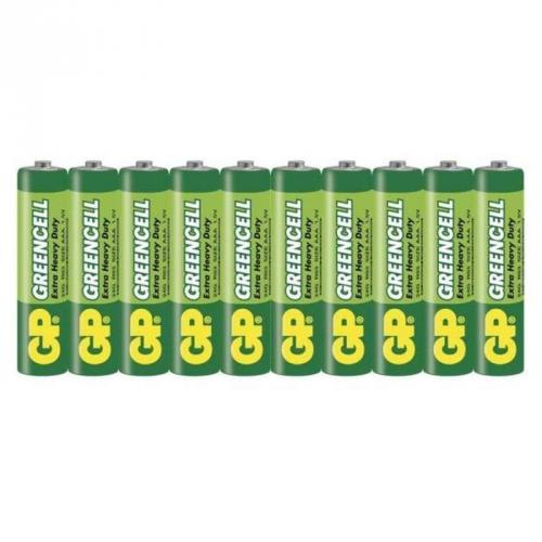 Baterie zinkochloridová GP Greencell AAA, R03, fólie 10ks