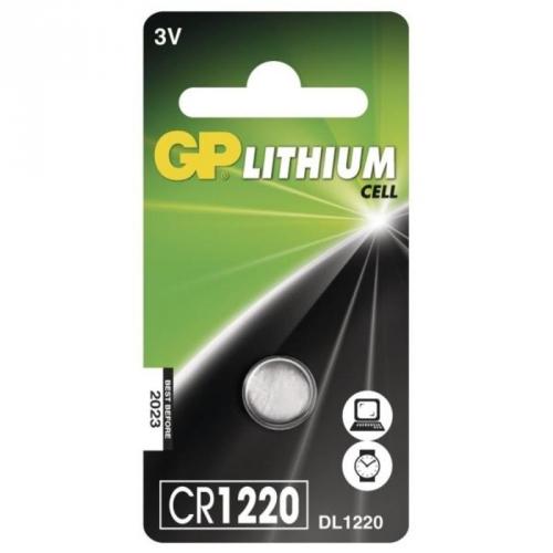 Baterie lithiová GP CR1220, blistr 1ks