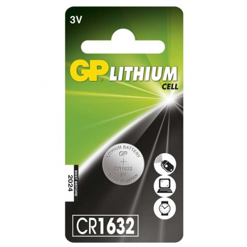 Baterie lithiová GP CR1632, blistr 1ks