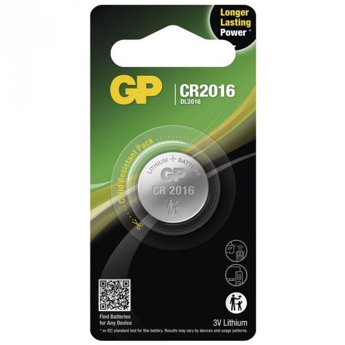 Baterie lithiová GP CR2016, blistr 1ks