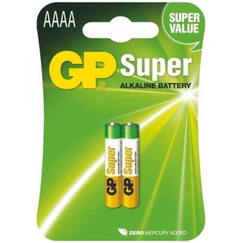 Baterie alkalická GP AAAA, LR61, blistr 2ks