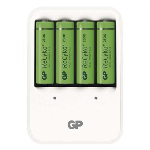 GP PB420 pro AA, AAA + 4x AA ReCyko+ (2500mAh) bílá