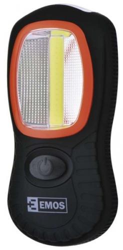 EMOS LED 3W COB LED + 3x LED, 3x AAA