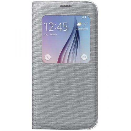 Samsung S-View pro Galaxy S6 (EF-CG920BS) stříbrné