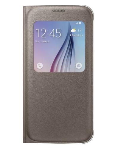 Samsung S-View pro Galaxy S6 (EF-CG920PF) hnědé