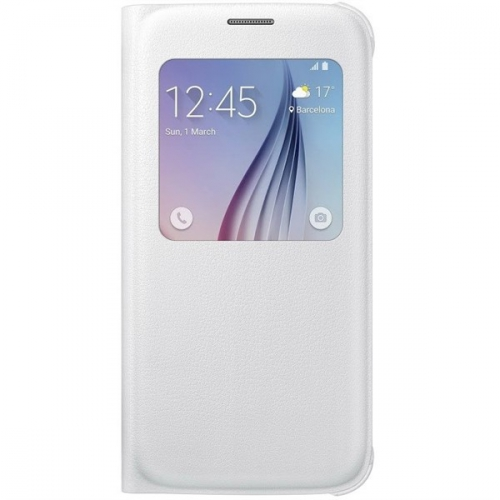 Fotografie Pouzdro na mobil flipové Samsung S-View pro Galaxy S6 (EF-CG920PW) - bílé