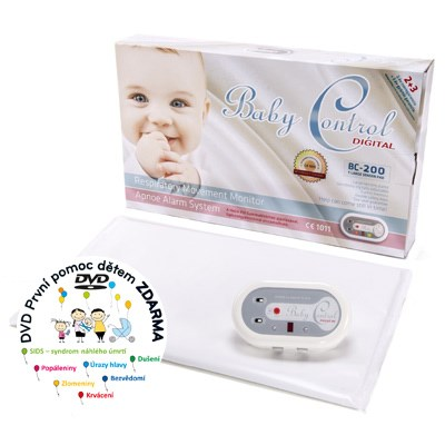 Fotografie Baby Control Digital monitor dechu BC-200 - s jednou senzorovou podložkou