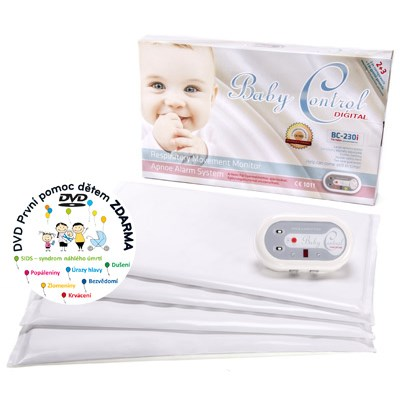 Monitor dechu Baby Control pro dvojčata Digital BC-230i bílá