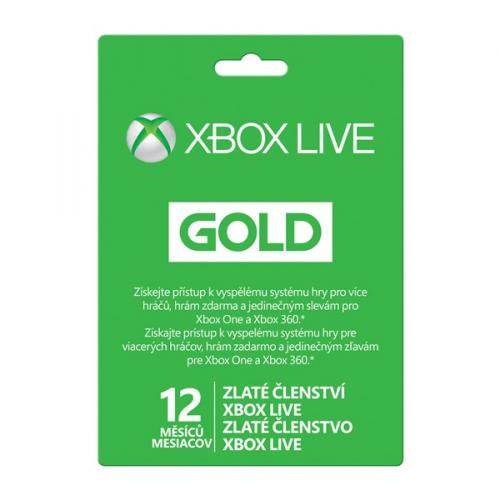 Microsoft Xbox LIVE Gold - zlaté členství 12 měsíců