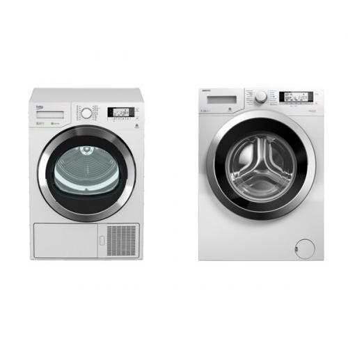 Set (Sušička prádla Beko DPY 8506 GXB1) + (Automatická pračka Beko Superia WMY 71243 CSPTLMB1)