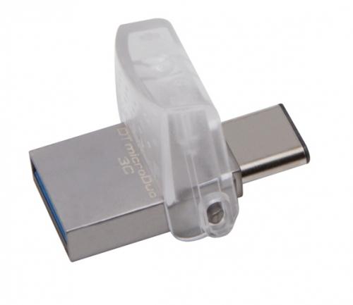 Fotografie Kingston DataTraveler MicroDuo 3C 64GB stříbrný (DTDUO3C/64GB)