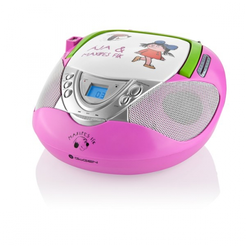 Fotografie Radiopřijímač s CD GoGEN MAXI RADIO P, CD/MP3/USB, růžový
