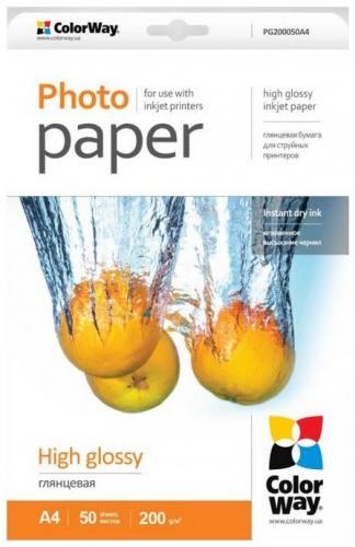 ColorWay high glossy 200g/m2, A4/ 50ks